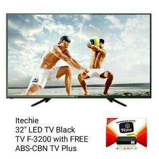 "Itechie 32"" LED TV Black TV F-320 w/ FREE ABS-CBN TV Plus"