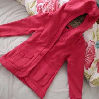 Winter Hooded Coat (Hot Pink)