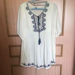 Embroidery Babydoll Dress