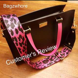 Customer's Review On The Leopard Canvas Adjustable Bag Strap