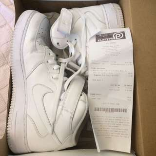Nike Air Force 1 White Size 10