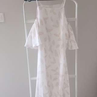 Nude Leaf Dress