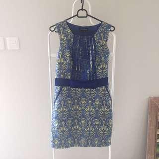Dress Biru Pita