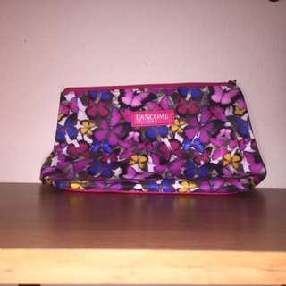 Pink Butterfly Lancome Makeup Bag