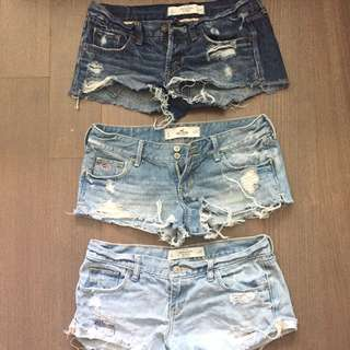 SHORTS Abercrombie Hollister 26 and 27