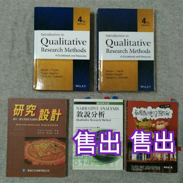 【論文用】220-900元 2. 研究設計 220元,  4. Introduction To Qualitative Research Method 質性研究方法 900元