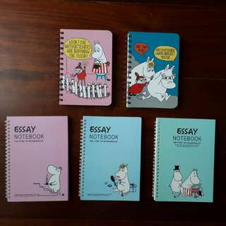 REPRICED Moomin Notebooks