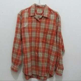 Flanel Shirt Orange (No Brand)