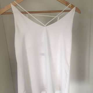 Glassons White Criss Cross Cami