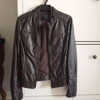 MNG Or Mango Genuine Leather Jacket