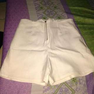 High Waist Short (White)
