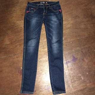 Tribal Skinny Denim Jeans