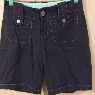 Nonstop 藍色短褲👖100%棉腰35長41