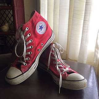 Authentic Red Converse Chuck Taylor