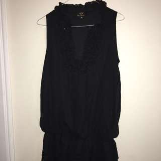 Fancy Black Dress Top