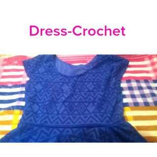 Dress Blue Crochet (REPRICED)