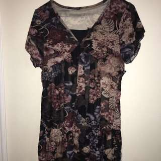 Flower Chiffon Top