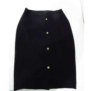 Executive Black Span Skirt