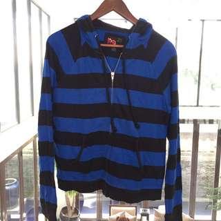 Forever 21 black & blue striped jacket