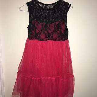 Cute Lace Dress Lady Bug Inspired