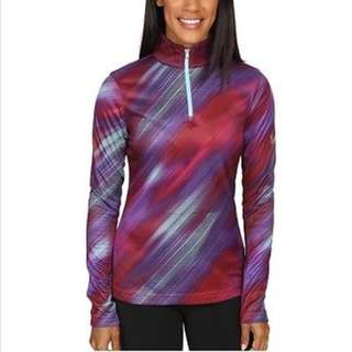 NEW Sz M Spyder Red Blue Women's Long Sleeve Pullover Thermal