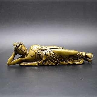 純銅睡佛brass buddha