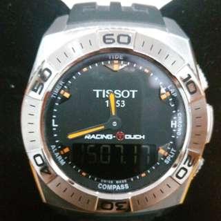 Tissot Racing Touch rubber dan Tissot T-Race Touch black leather strap