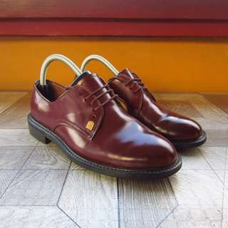 Maroon Burgundy Derby Dress Leather Shoes