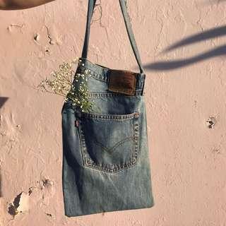 Reworked Levis Denim - Market Bag
