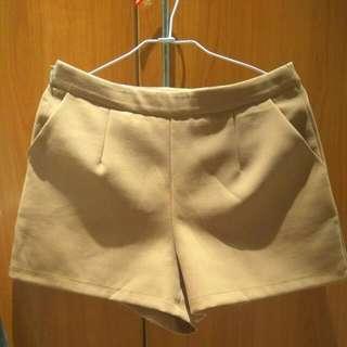 駝色 咖啡色 女 西裝褲 短褲 挺版