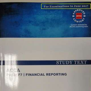 ACCA F7 Becker Education Whole Set