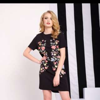 Flower Dress Black Size M
