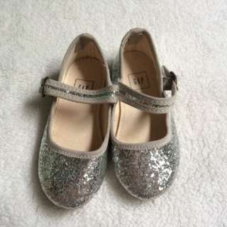 Baby Gap Girl's Silver Glitter Ballerina Flats