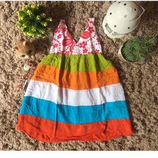 Dress Santai Bahan Bali Adem Untuk Anak 3-4 Thn