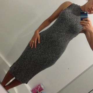 Grey slim dress