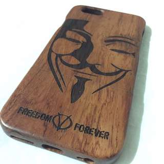 Iphone 6/6s Anonymous Case WOOD