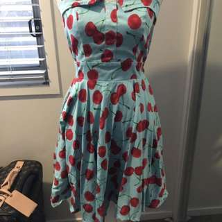 Cherry Pinup Dress Size 10