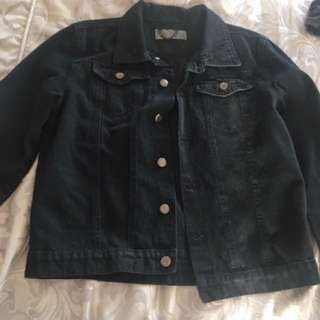 Black Denim Jacket Boohoo