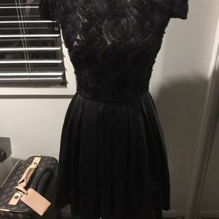 Black Dotti Dress Size 8