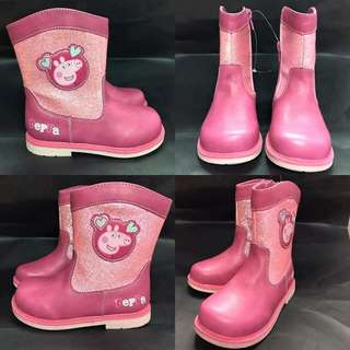 😍Peppa pig 粉紅boot😍