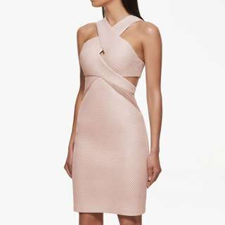 Nude Peach Dress Kendall+Kylie Collection