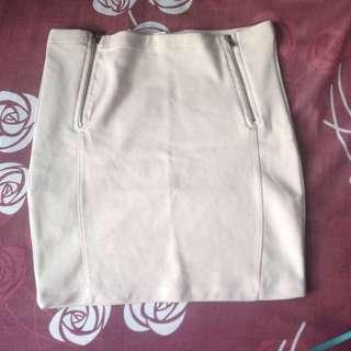 Stradivarius Beige Span Skirt