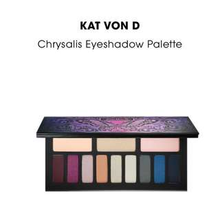 100% AUTHENTIC Kat Von D Chrysallis Eyeshadow Palette RRP $65