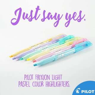 Pilot Frixion Pastel Highlighters!!!