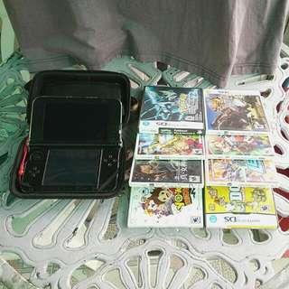 3DS XL + 8 GAMES