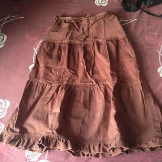 Et Cetera Brown Skirt