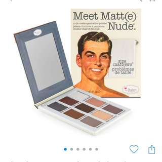 100% AUTHENTIC TheBalm Meet Matte Nude Eyeshadow Palette RRP $40+