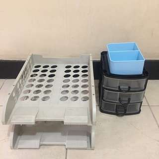 File Case, Small Craft Drawer & Blue Pen Holder