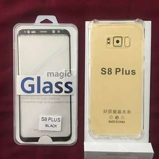 Tempert Glass S8plus Free Jellycase