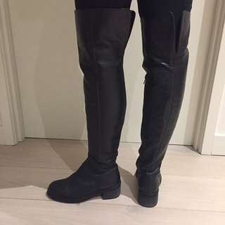 Tony Bianco Black Leather Boots